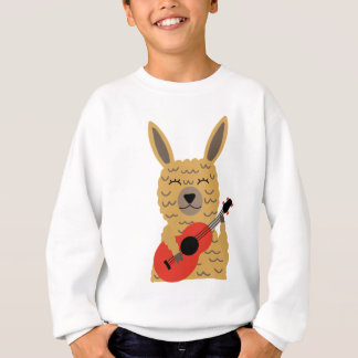 Cute Llama Playing a Guitar Sweatshirt