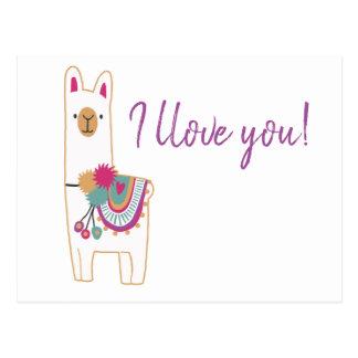 Cute llama postcard