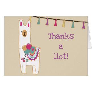 Cute llama & tassels card