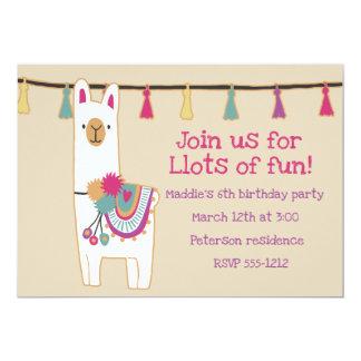 Cute llama & tassels design card