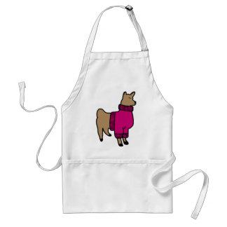 Cute Llama Wearing a Sweater Standard Apron