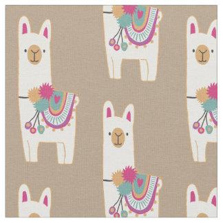 Cute llamas design with custom background fabric