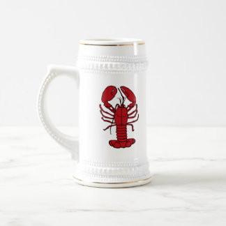 Cute Lobster Nautical beach beer stein