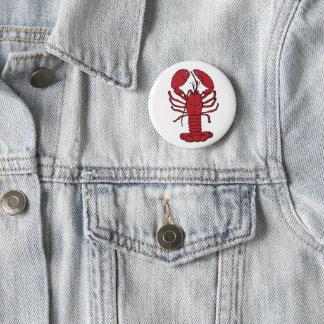 Cute Lobster Nautical beach   button pin