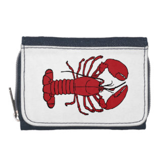 Cute Lobster Nautical beach  Denim Wallet