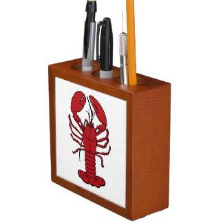 Cute Lobster Nautical beach desk organizer