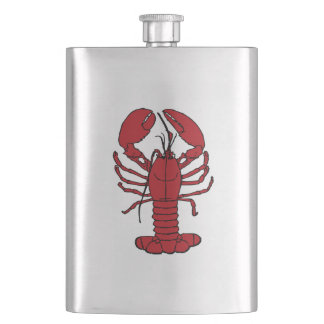 Cute Lobster Nautical beach  flask