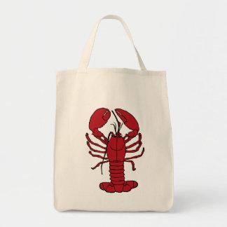 Cute Lobster Nautical beach tote bag