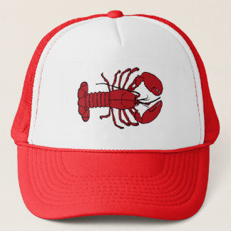 Cute Lobster Nautical beach trucker hat