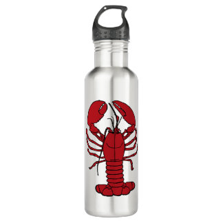 Cute Lobster Nautical beach water bottle