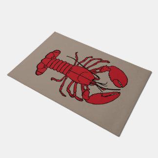 Cute Lobster Nautical beach   welcome mat