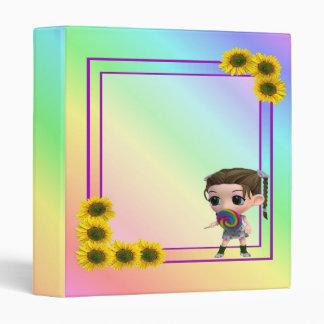 Cute Lollie Pop Girl-Binder Vinyl Binders