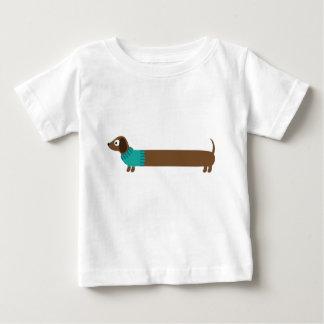 Cute Long Dachshund Illustration Baby T-Shirt