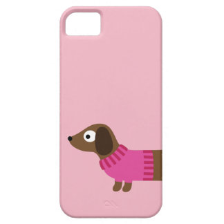 Cute Long Dachshund Illustration Case For The iPhone 5