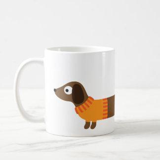 Cute Long Dachshund Illustration Coffee Mug