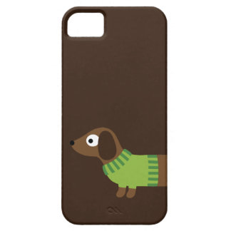 Cute Long Dachshund Illustration iPhone 5 Covers