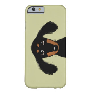 Cute Long Haired Dachshund Puppy Barely There iPhone 6 Case
