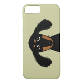 Cute Long Haired Dachshund Puppy Case-Mate iPhone Case