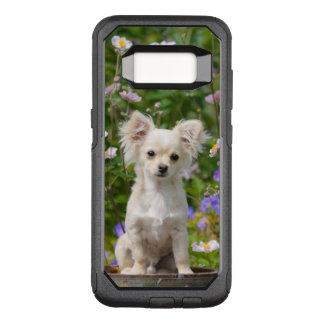 Cute longhair cream Chihuahua Dog Puppy Pet Photo OtterBox Commuter Samsung Galaxy S8 Case