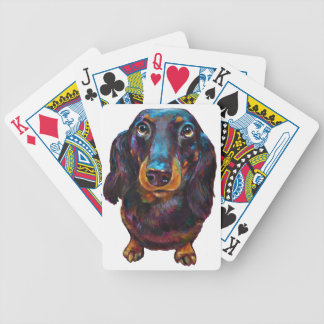 Cute Longhaired Dachshund Bicycle Playing Cards