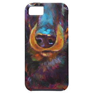 Cute Longhaired Dachshund iPhone 5 Case