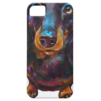 Cute Longhaired Dachshund iPhone 5 Cover