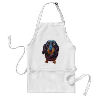 Cute Longhaired Dachshund Standard Apron