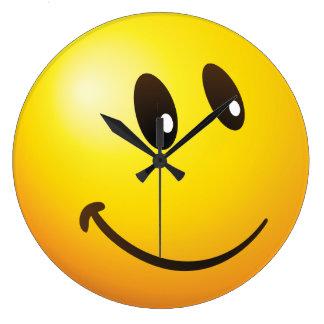 cute looking at you emoji large clock