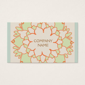 Cute Lotus Natural Holistic Health and Beauty Business Card