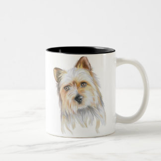 Cute Lovable Yorkshire Terrier Two-Tone Coffee Mug