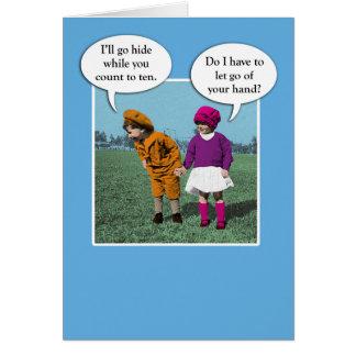 Cute Love and Romance Hide and Seek Greeting Card