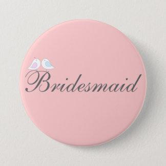 Cute love birds Bridesmaid 3 Inch Round Button