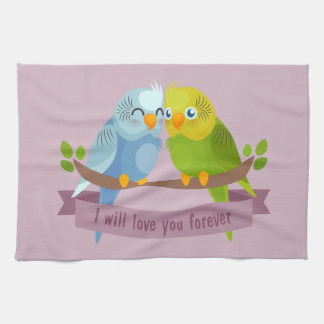 Cute Love Birds kitchen towel