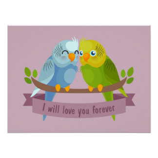 Cute Love Birds poster