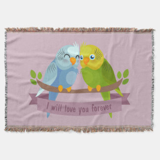 Cute Love Birds throw blanket