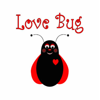 Cute Love Bug Ladybug Ornament Photo Sculpture Ornament