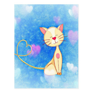 Cute Love Cat Postcard