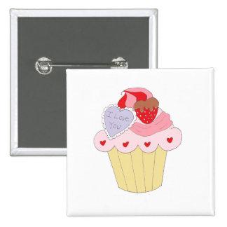 Cute Love Cupcake Pinback Button