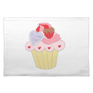 Cute Cupcakes Placemats Zazzle Ca