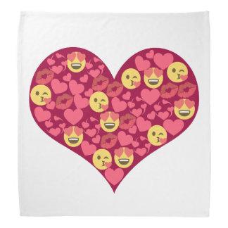 Cute Love Kiss Lips Emoji Heart Bandana