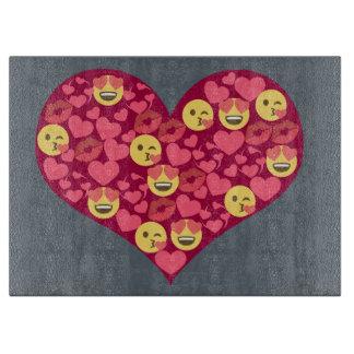 Cute Love Kiss Lips Emoji Heart Cutting Board