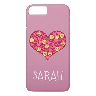 Cute Love Kiss Lips Emoji Heart iPhone 8 Plus/7 Plus Case