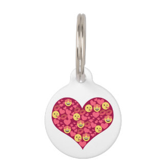 Cute Love Kiss Lips Emoji Heart Pet Tags