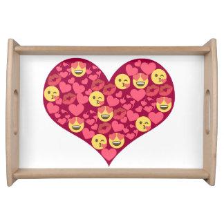 Cute Love Kiss Lips Emoji Heart Serving Tray