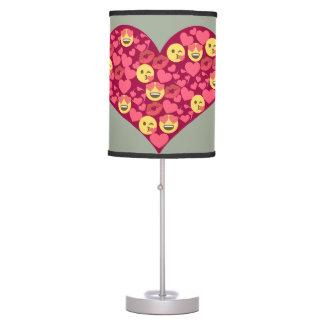 Cute Love Kiss Lips Emoji Heart Table Lamp