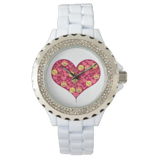 Cute Love Kiss Lips Emoji Heart Watch