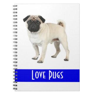 Cute Love Pug Puppy Dog Notebook
