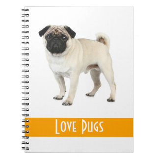 Cute Love Pug Puppy Dog Notebook