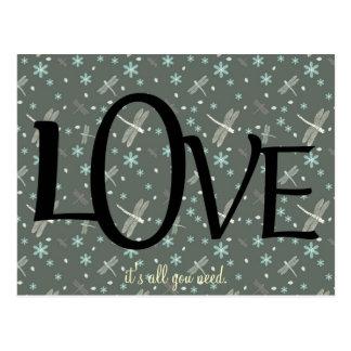 Cute Love Quote Postcard