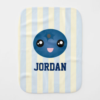 Cute Love You Berry Much Baby Boy Blueberry Burp Cloth